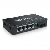5-Port Fast Ethernet Desktop Fiber Switch, with SC Fiber, 20 km