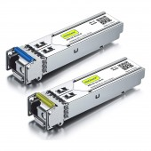 A Pair of 1.25G SFP BiDi Transceivers, up to 20 km (for Media Converter)