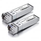 A Pair of 10G SFP+ Bidi Transceivers, up to 20 km