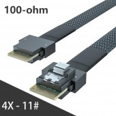 24G Internal SlimSAS SFF-8654 to SFF-8654 4i Cable, SAS 4.0, 100-ohm,