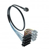 SFF-8643 to (4) SFF-8482 cable, 0.5~1 meter