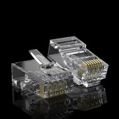 CAT.6 RJ-45 Pass Through Connectors, CAT.6 Ethernet Ends Modular UTP Plug Connector with Flexible Latch, 100-Pack