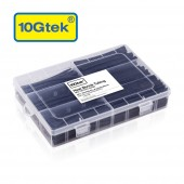 Heat Shrink Tubing, 154Pcs Kit (Black, 6 sizes), Shrinkage Ratio 2:1