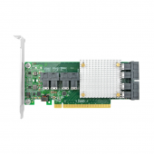 PCIe to SAS Expansion Card, PCIe x16 to 8x SAS SFF-8643 connectors