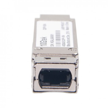 Brocade 40G-QSFP-SR4, Industry-standard MTP (MPO) 1X8 or 1X12 ribbon cable connector,100m link lengths on OM3 MMF,150m link lengths on OM4 MMF 5